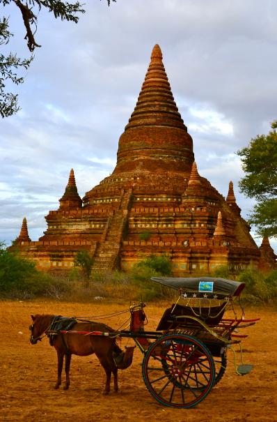 bagan_birmanie_calèche_cheval